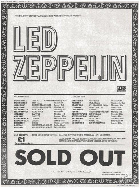 Led Zeppelin 19772_uk tour_soldout_ad