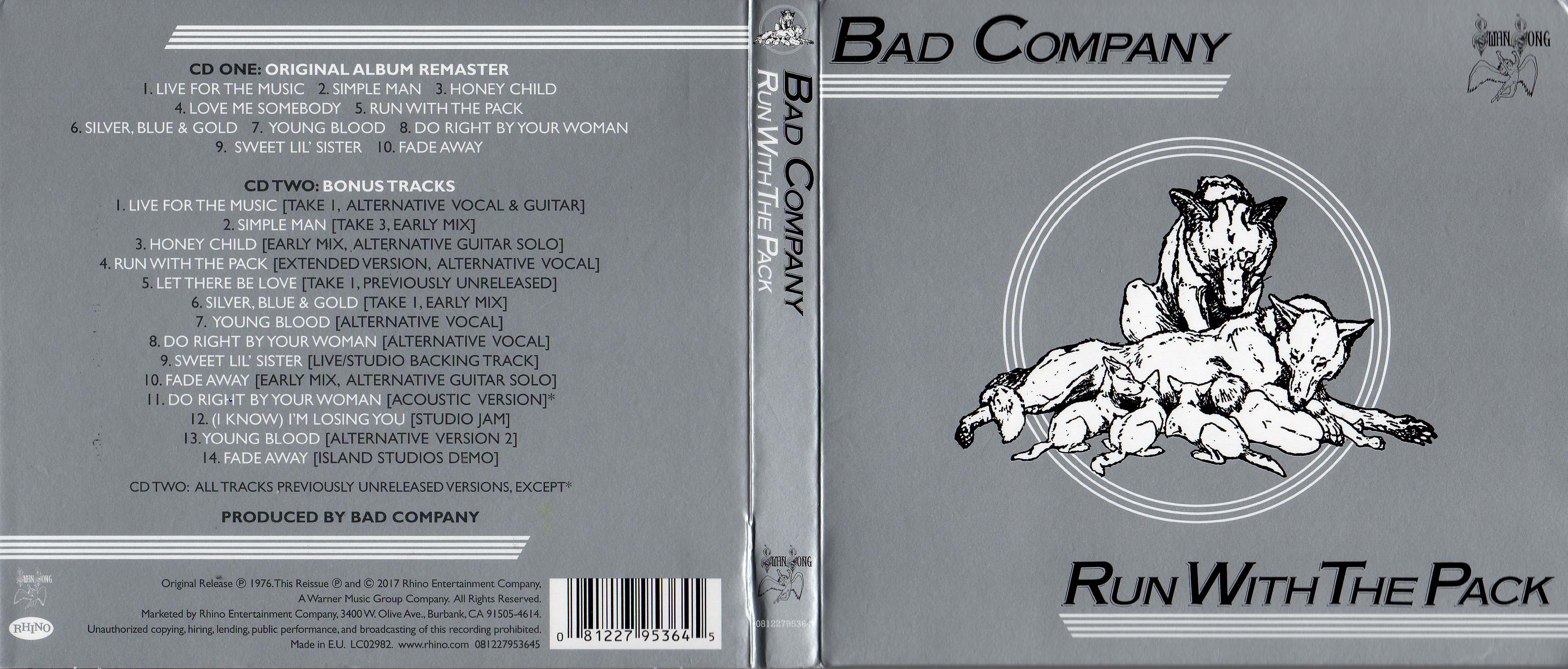 Music Capable Bad Company-run With The Pack Cassette