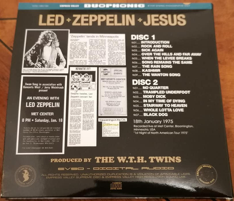 Led Zeppelin, Bloomington (MN) january 18th, 1975 - EVSD 2021 (soundboard)